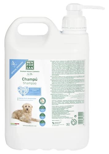 Menforsan Champú perros eliminador de olores talco, Elimina malos olores del pelaje