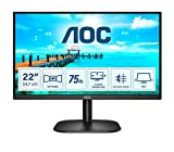 AOC Monitor 22B2DA- 22' Full HD, 75Hz, VA, Flicker Free, 1920x1080,200 cd/m, D-SUB, DVI, HDMI