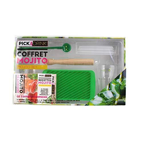 Pick&Drink KDO8509 Coffret Mojito Complet, Bois, Vert, 19,2 x 10,6 x 0,5 cm