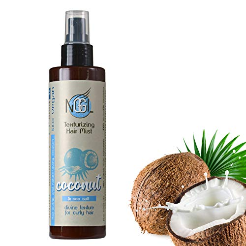 NGGL Veganes Premium-Spa für die Haare mit 100% natürlichem Kokosnussöl, Anti-Frizz Texturierendes Haarspray mit Meersalz, 200ml