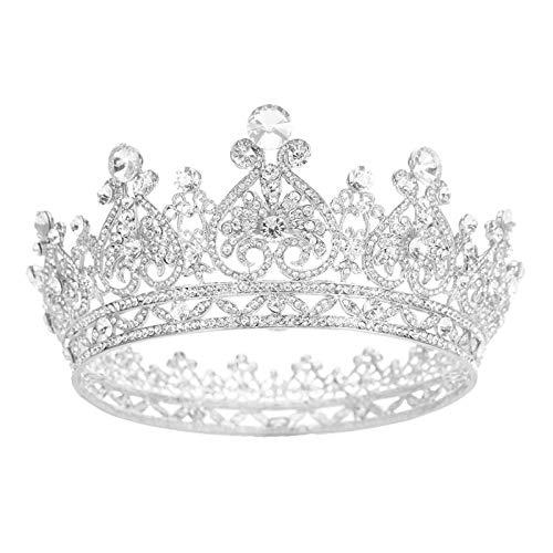 kliy Tiaras para Mujer Joyería De La Princesa Grande Círculo Completo Rhinestone...