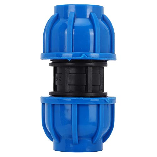 TOPINCN 4 Stücke 32mm bis 32mm Wasserleitung Gerade Anschlussarmaturen PE Kunststoff Quick-Connect Adapter Zubehör für Trinkwasserfilter