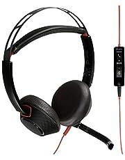 Plantronics Blackwire C5220 Headset/Hörlurar med USB-A och 3,5 mm Kontakt, Svart