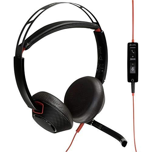 Plantronics Blackwire C5220 - Auriculares de Diadema con Conector USB-A y Clavija de...