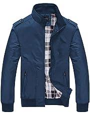 new bapa sitaram Men's Coats Jackets,Men's Autumn Winter Casual Fashion Pure Color Patchwork Jacket Zipper Outwear Coat