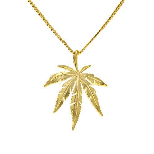 Hip Hop Street Dance Herren Hanf Halskette Legierung Hiphop Halskette Schmuck (Gold, Silber), Halskette-Gold
