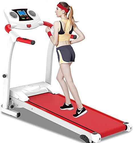 Loopband 1,5 pk opvouwbare loopband staal, met hoekverstelling joggen oefening, het noodsysteem met de hand grijpen van een sensor, een tablet flessenhouder,Red