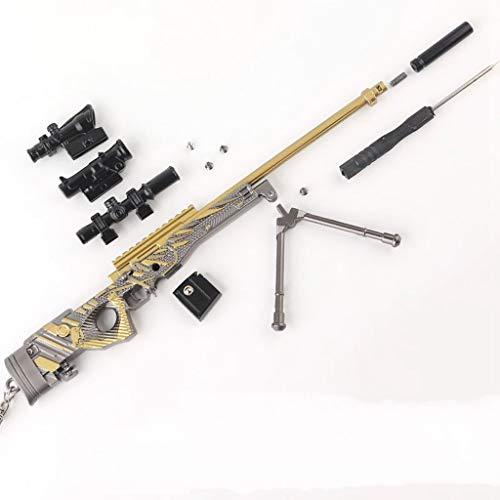Mini AWM Rifle De Francotirador Cosplay Llavero De Arma De Aleación Manualidades De Anime Modelo De Juguete Desmontable (L)