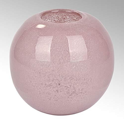 Lambert - Vase Cassela - Heide - H18 x D20 cm - Glas mit Kupfernetz