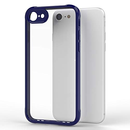 Wckxy Funda telefónica for iPhone 8 & 7 Transparent Acrylic + TPU Airbag Threapp Thone Cover (Color : Blue)