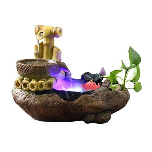 Fontaines d'intérieur Creative Desktop résine résine moulin à pierre pot cascade Desktop Fontaine petit étang à poissons cascade atomiseur humidificateur intérieur chambre décoration Décoration de bur