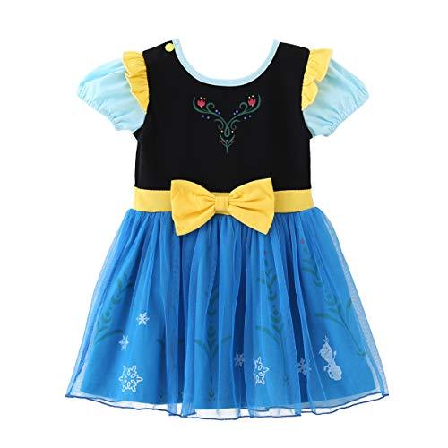 Lito Angels Niñas Disfraz de Princesa Anna Blancanieves Elsa Sofía Cenicienta Disfraces Fiesta de cumpleaños de Halloween Ropa Casual Vestido