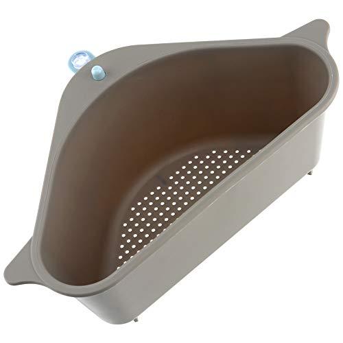 LUTER Triangular Estante De Drenaje De Fregadero Multiusos Cesta De Fregadero Almacenamiento De Cocina Estante De Esponja Para Cocina Baño (Gris)
