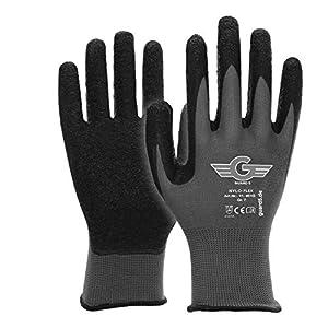 Guard 5 Nyloflex 11401 – Guantes de trabajo, de nailon y látex, con excelentes propiedades de agarre y montaje, con la normativa EN388, Gris