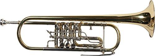 Karl Glaser Konzert Trompete, Drehventile, Koffer, Mundstück