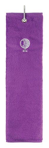 Surprizeshop Damen Tri Fold Golf Handtuch, Damen, 95225759598, violett, Nicht zutreffend
