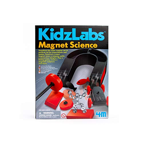 4M Magnet Science Kit - 10 Educational Stem Toy Magnetic Experiments & Games Gift for Kids & Teens, Boys & Girls