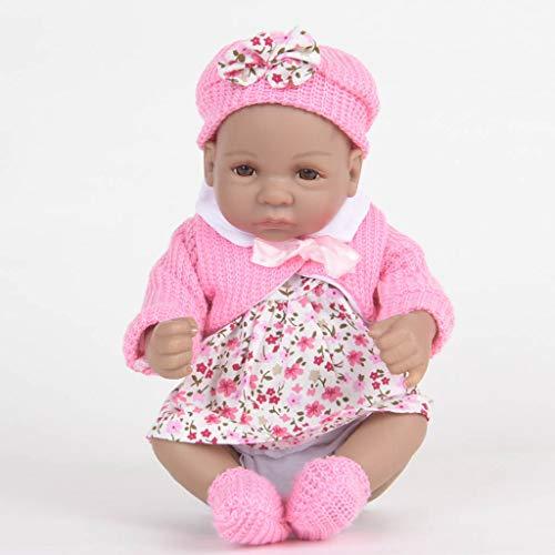 Cgration 28 cm de aspecto realista, juguete de silicona para el cuidado del recién nacido, sin pelo para abrir los ojos para niños y ancianos, regalo de Navidad