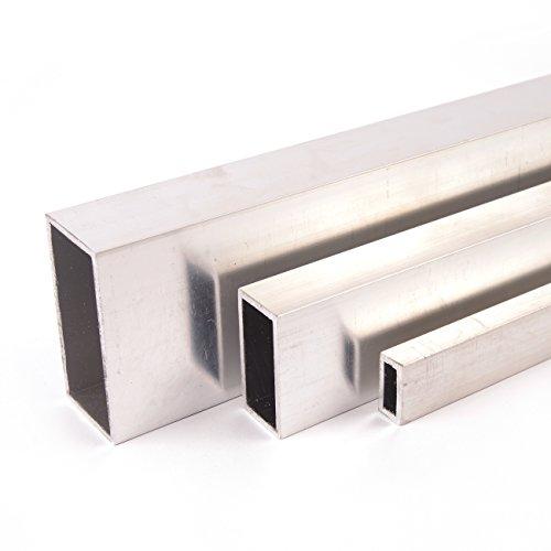 Aluminium Rechteckrohr Aluprofil Vierkantrohr ALMgSi0,5 F 22 Oberfläche blank gezogen Abmessungen 30x20x2 mm Länge 1500 mm