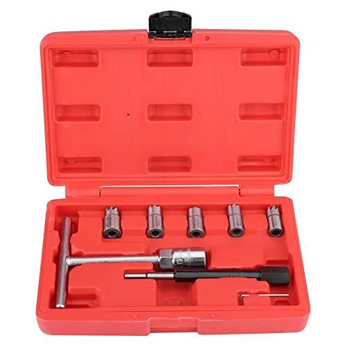 Broco 7 Stks Diesel Injector Zitmaaier Cleaner Set Universele Injector Re-Face Tool Kit