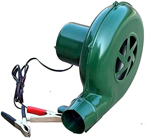 QIANMEI Soplador 12V pequeño soplador eléctrico | Wilderness al Aire Libre BBQ DE DC Ventilador de Bomba centrífuga, Conveniente para Llevar (Size : 80W)