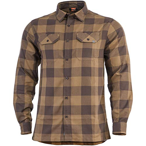 Pentagon Drifter Flannel Shirt Long Sleeve TB Checks size M