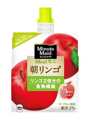 コカ・コーラ ミニッツメイド 朝リンゴ ゼリー 180mlパウチ×6個の画像