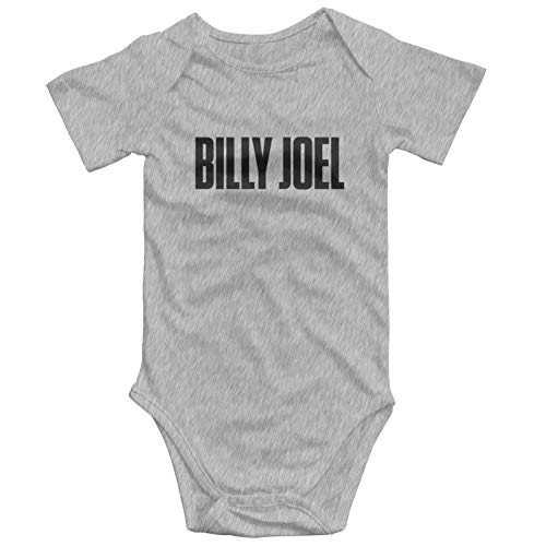 3d Printed Casual Billy Joel Logo Infant Child Round Neck Short Sleeve Onesie One-Piece Bodysuits Baby Girl Romper Jumpsuit Onesies 0-3 Months 6-9 Months Clothing