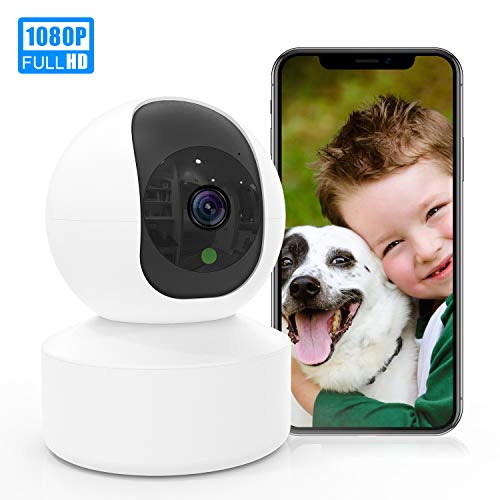 Wireless Cameras for Home Security KXLY 1080p HD WiFi Camera 2-Way Audio Surveillance Camera with Remote Control, Sound Detection and Motion Tracking for Baby/Pet Monitor with iOS&Android