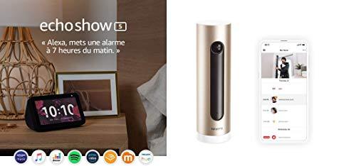 Echo Show 5 + Netatmo Smarte Überwachungskamera Innen, Wlan, Bewegungserkennung, Nachtsicht, Ohne Abonnement, NSC01-EU (Welcome)