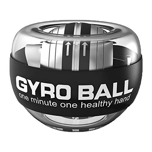 GOZATO Auto-Start Wrist Power Gyro Ball, Wrist Strengthener and Forearm Exerciser for Stronger Arm Fingers Wrist Bones and Muscle with LED Lights