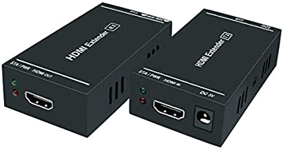 HDMI Extender,164 Ft Full HD Uncompressed Transmit,Up to 1080P@60Hz Over Single Cat5e/Cat6/Cat 7,3D & EDID & POC Supported,(Transmitter and Receiver)