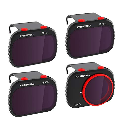 Freewell Standard Day -4K Series- Filtros de 4Paquetes Compatibles con Mavic Mini/Mini 2