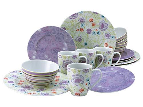 Creatable, 22509 Oriental - Vajilla (16 piezas, porcelana), color lila