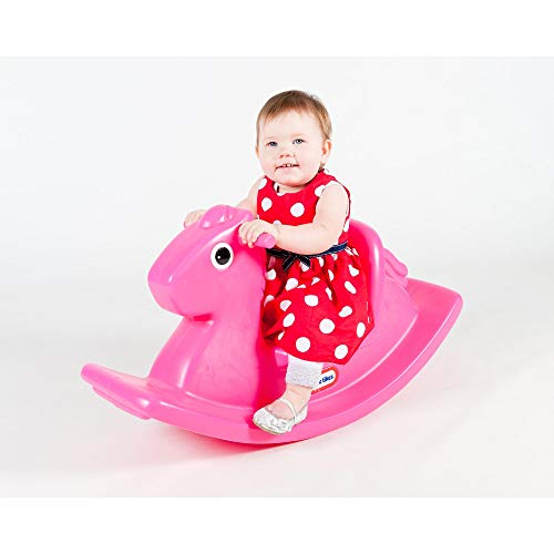 Little Tikes Rocking Horse - Active Play for Toddlers - Easy grip handles & Stable Saddle for Safety - Durable Build - Magenta