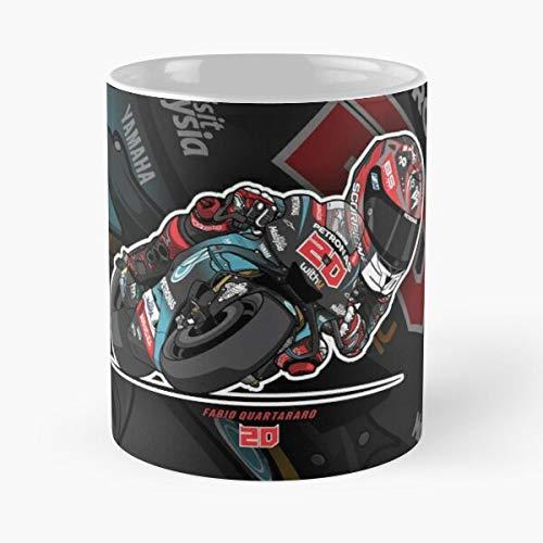 Diablo Paris France Racing 20 Japan French MotoGP El Best Taza de café de cerámica de 315 ml con texto en inglés 'Eat Food Bite John Best Taza de café de cerámica de 325 ml