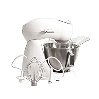 Hamilton Beach Eclectrics All-Metal 12-Speed Electric Stand Mixer, Tilt-Head, 4.5 quart, Pouring Shield, Sugar (63221) (B000308BUI) | Amazon price tracker / tracking, Amazon price history charts, Amazon price watches, Amazon price drop alerts