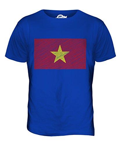 Candymix Vietnam Kritzelte Flagge Herren T Shirt, Größe Small, Farbe Königsblau