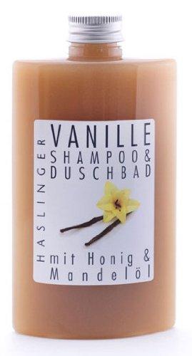 Lashuma Vanille Shampoo - Duschbad mit echtem Bienenhonig und Mandelöl, 200 ml