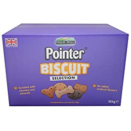 Pointer – Assorted Dog Biscuit Selection – Oven Baked Dog Treats with No Artificial Flavourings, Perfect for All Sized Dogs, 10 kg Box