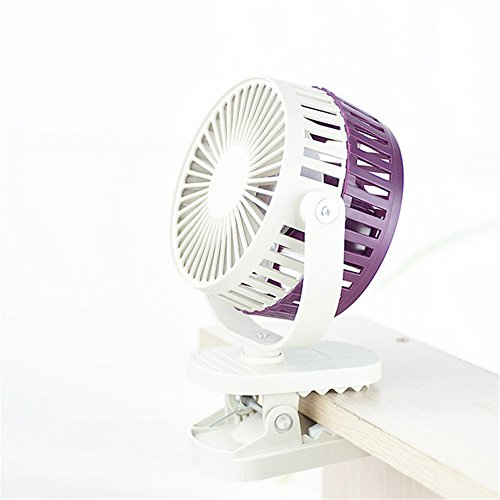 ZIJIFAN La Massima Potenza del Vento Possono Essere serrati Ricaricabili Mini ventilatori elettrici USB Mini-Clip Ventilatore Ventola ostelli Studente Passeggino Ventola