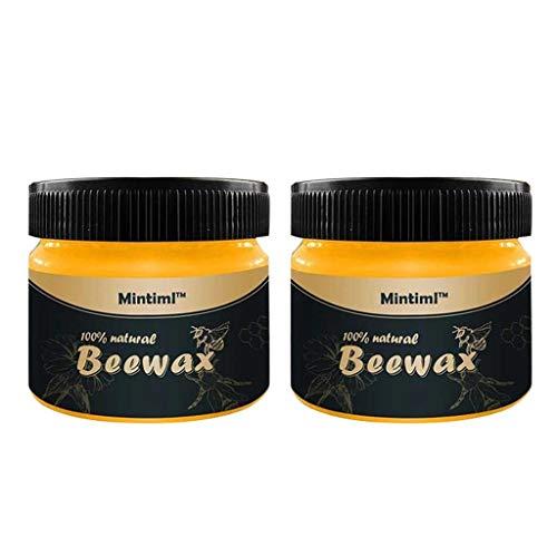 Fanxing Holzgewürz Bienenwachs-Möbelpflege Bienenwachs-Reinigungs-Komplettlösung (2 * 85ml)