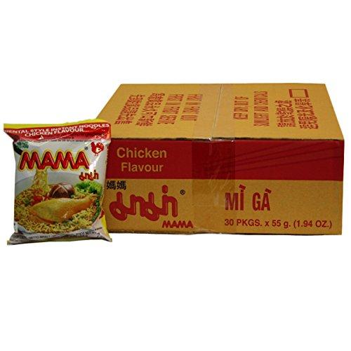 90er Pack (90x55g) Mama Instant Nudelsuppe Huhngeschmack Mi Ga (Papa Vo ®)