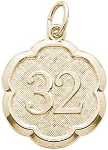 Rembrandt Charms Oakland Mall Number 32 10K Gold 5 ☆ very popular Yellow Charm