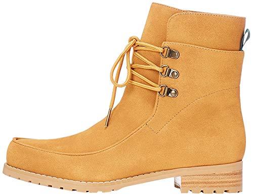 find. Stiefel Damen aus Kunstleder mit hohem Schaft, Braun (Tan), 41 EU