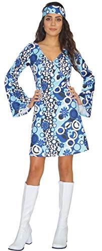 MAYLYNN Hippie Kleid Kostüm Damen Zoe 60er 70er Jahre, Größe M