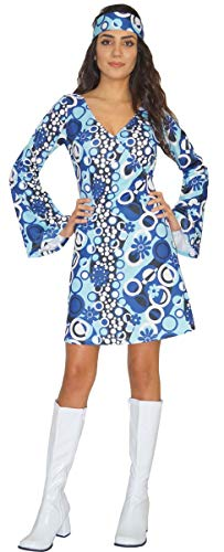 Disfraz de Hippie para Mujer Zoe años 60 70, Talla M