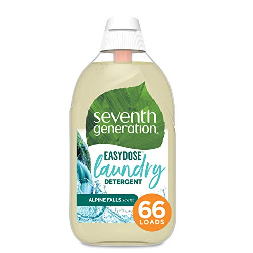 Seventh Generation Liquid Laundry Detergent Ultra Concentrated Easy Dose Technology for clean clothes Alpine Falls 683 mL 66 Loads