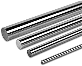 PDTech 8mm, 10mm, 12mm, and 20mm diameter bearing rod for linear motion, custom cut length, hardened steel chrome plated (10mm dia / 251mm-500mm)