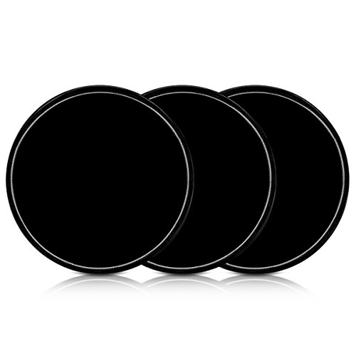 kwmobile 3X Universal Gel Klebepads - Doppelseitig klebende Anti-Rutsch Silikon Gelpads Schwarz - optimal als Smartphone Halter oder Navi Halterung